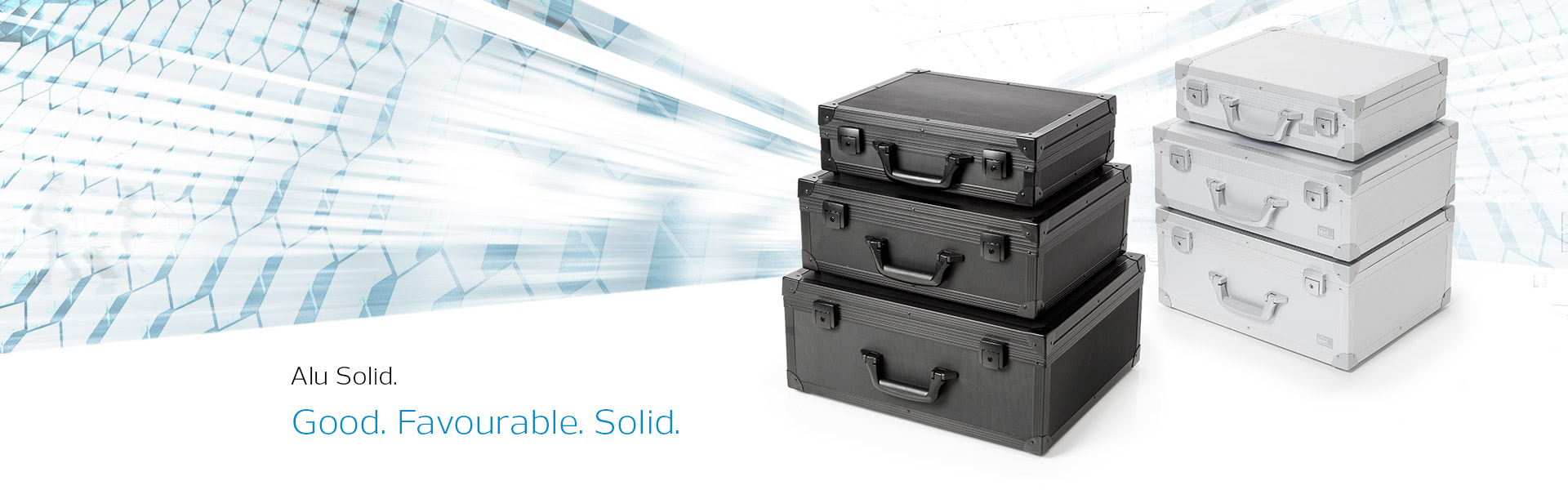 Aluminium cases from the Alu Solid case series