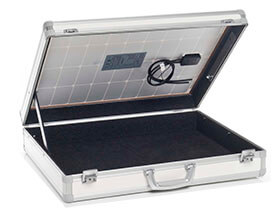 Aluminium cases for solar technology