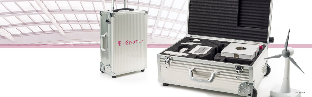 Aluminum cases for telecommunications - sample cases and transport cases from Faisst