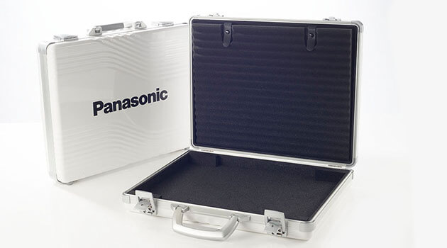 Vario Case hard case with white surface for Panasonic