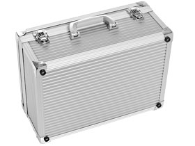 aluminium case - alu robust series silver design