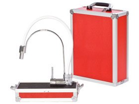presentation case red colored for sanitary industry